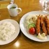 函館旅行グルメ『喫茶&お食事 さふらん』おてごろエビフライセットのお手頃感よ
