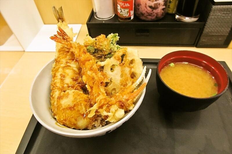 橋本店『天丼てんや』冬のご馳走天丼で真ほっけの天麩羅ですと?