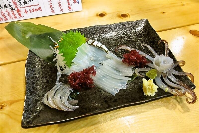 函館旅行グルメ『海がき本店』ホッケの刺身とか活イカ踊り造りとか