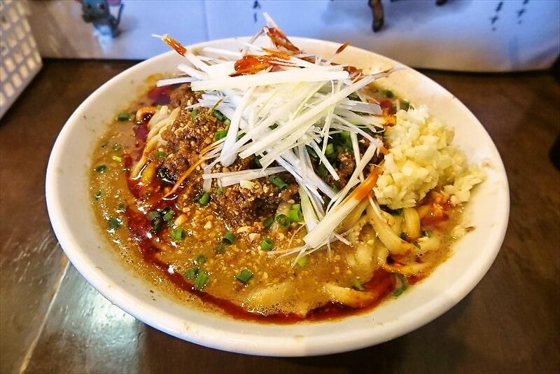 """『麺屋 歩夢』2021年元旦の限定ラーメン""""担々麺""""を食べる時"""