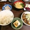 ふじやモツ煮定食1