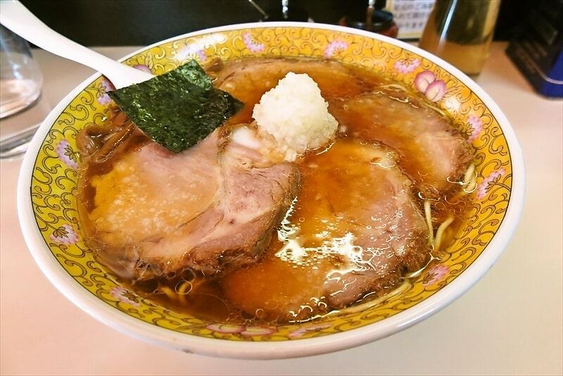 『タンタン』2021年八王子ラーメン初めにロース大チャーシュー麺