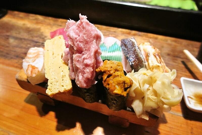 遊喜やお任せ握り寿司1