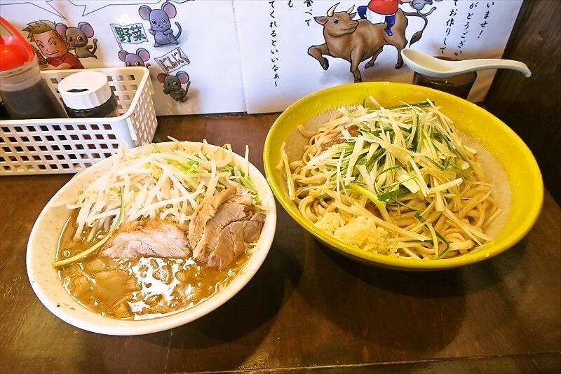 麺屋歩夢大つけ麺ラー油抜き釜揚げネギW1