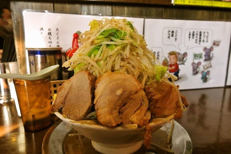 麺屋歩夢小ラーメンヤサイマシマシ1