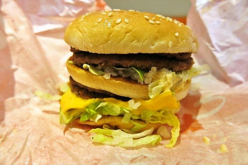 マクドナルド倍ビッグマックをラップで食べる4