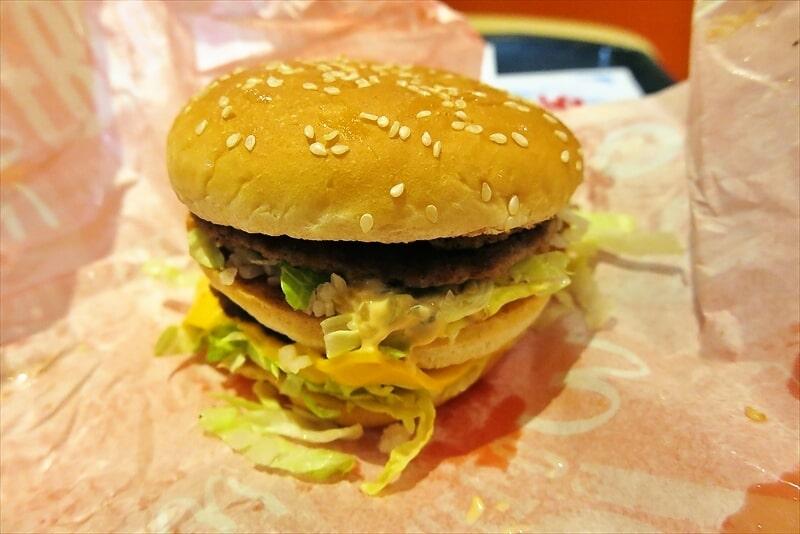 マクドナルド倍ビッグマックをラップで食べる6