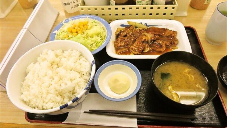 厚切り豚生姜焼定食ライス特盛り1