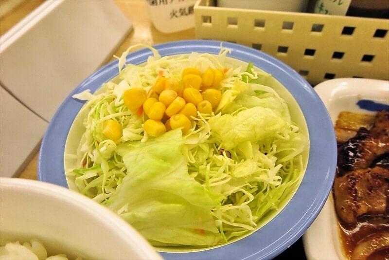 松屋定食のサラダ