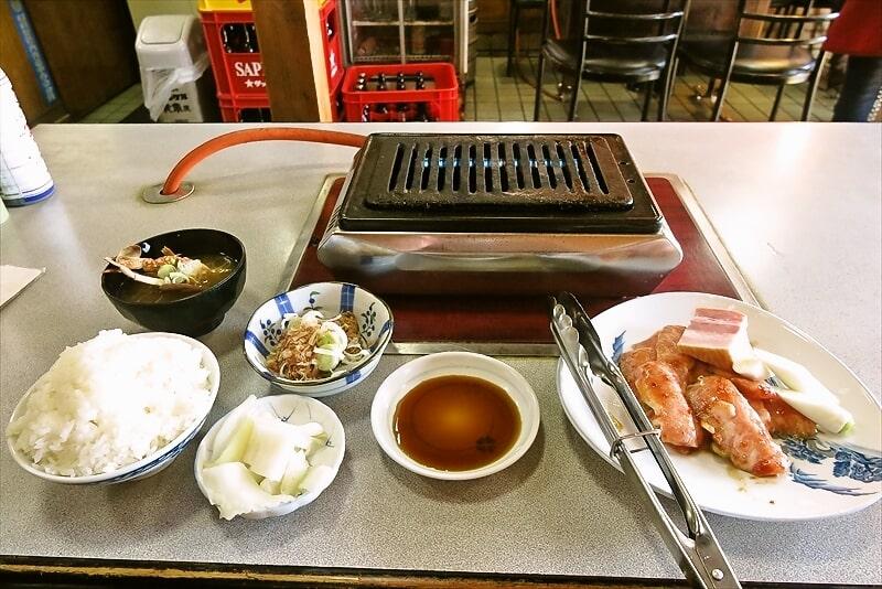 焼肉オックス豚トロ定食1