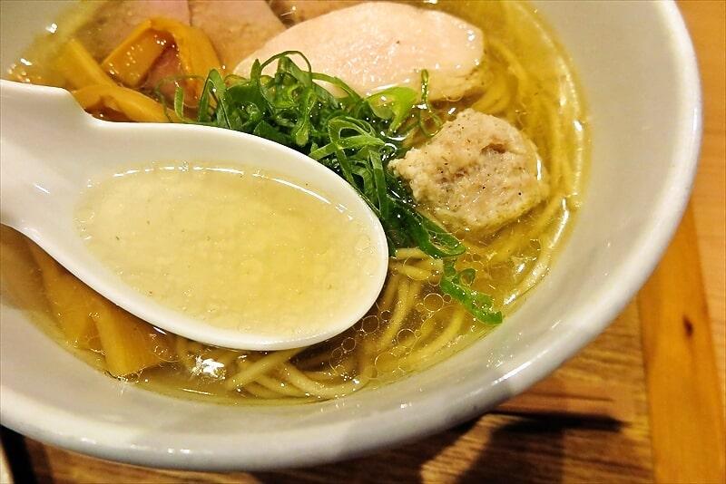 中華蕎麦時雨塩ラーメンのスープ