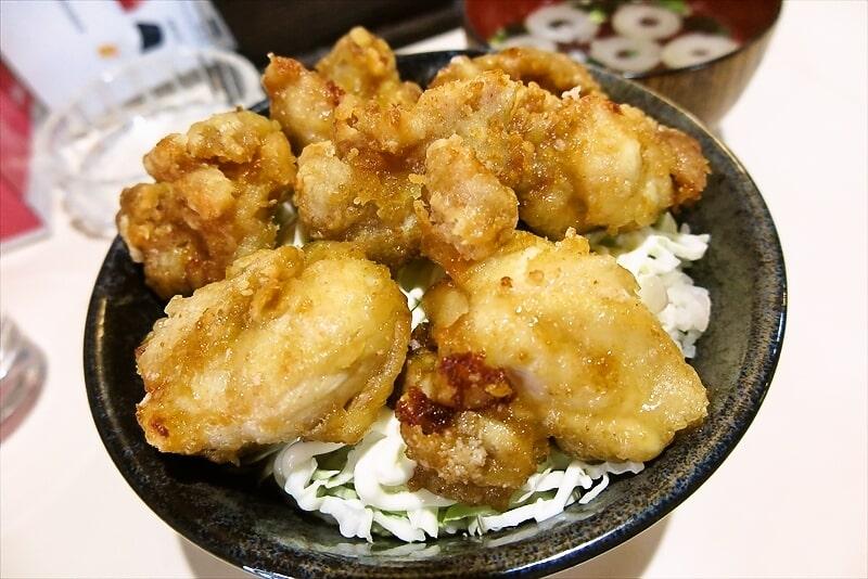 とちの木鶏の唐揚げ定食3