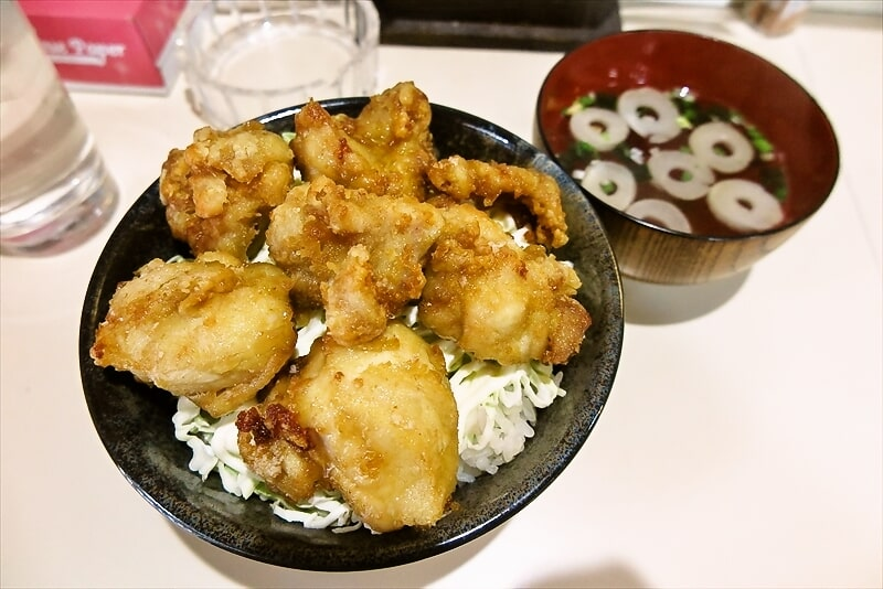 とちの木鶏の唐揚げ定食1