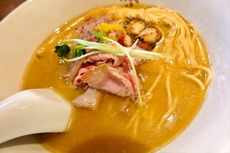 金目鯛らーめん麺鳳仙花金目鯛白湯らぁ麺4