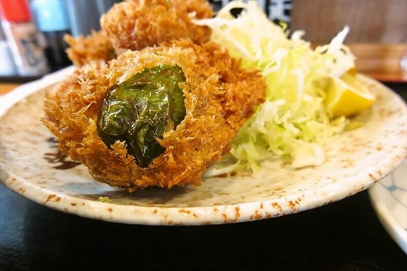 飯野屋ピーマン肉詰めフライ定食5