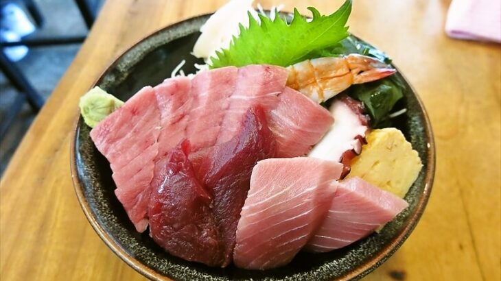 昭和食道上宿一丁目本マグロ中トロ丼1