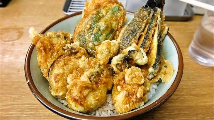 """『豊野丼』牡蛎を使った""""かき天丼""""が美味しかったので御報告@横浜"""