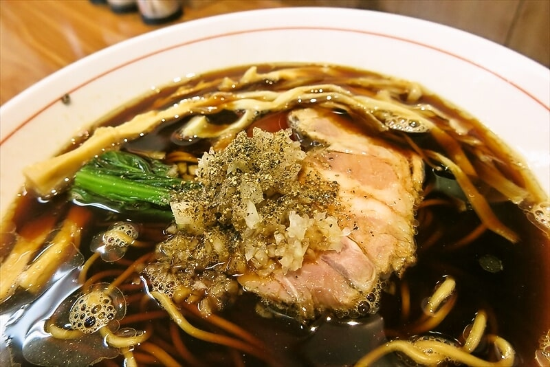 ら~麺安至漆黒醤油ラーメン細麺3