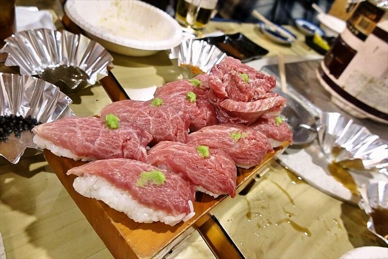 『焼肉はせ川』馬のにぎり寿司