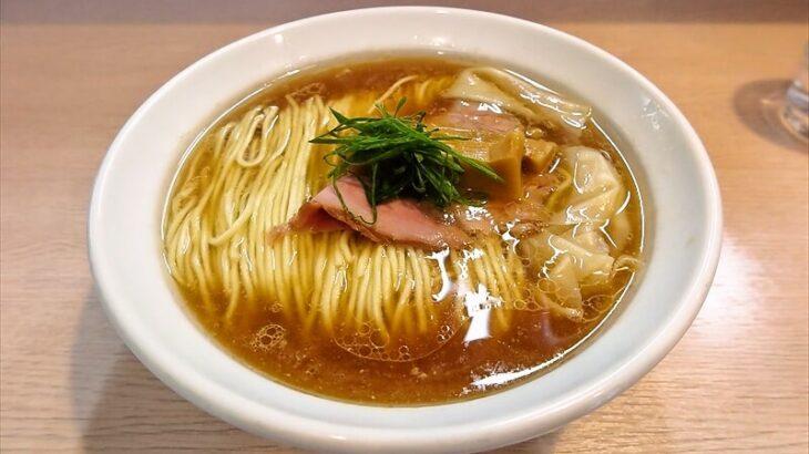 『麺笑 巧真』(めんしょうたくま)ワンタンメンを食す!@八王子