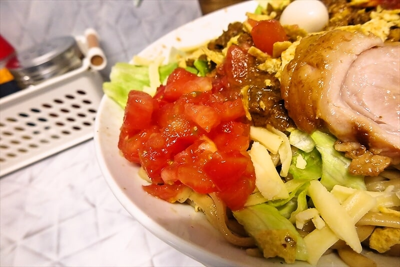 『麺屋 歩夢』金沢八景店 冷やしタコスまぜそば2