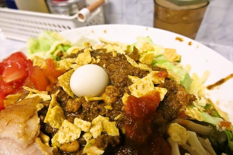 『麺屋 歩夢』金沢八景店 冷やしタコスまぜそば4