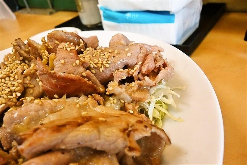 『大進亭』生姜焼き定食大盛り3