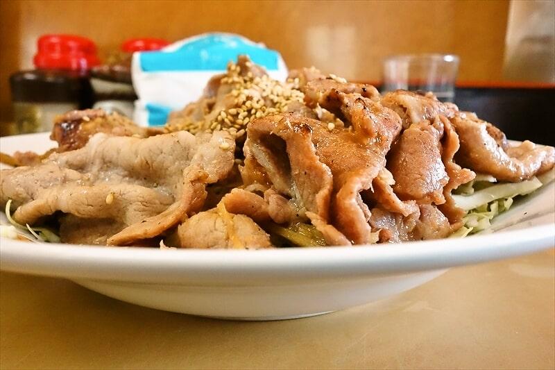 『大進亭』生姜焼き定食大盛り6
