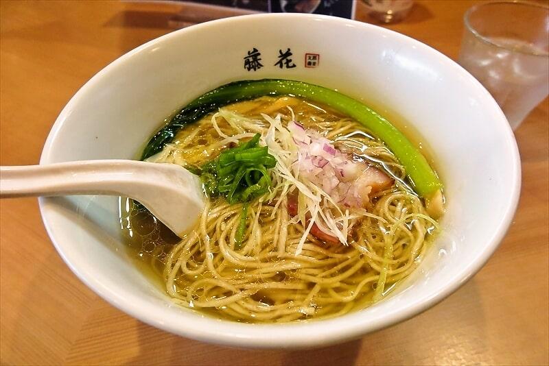 『支那蕎麦 藤花』塩らぁ麺1