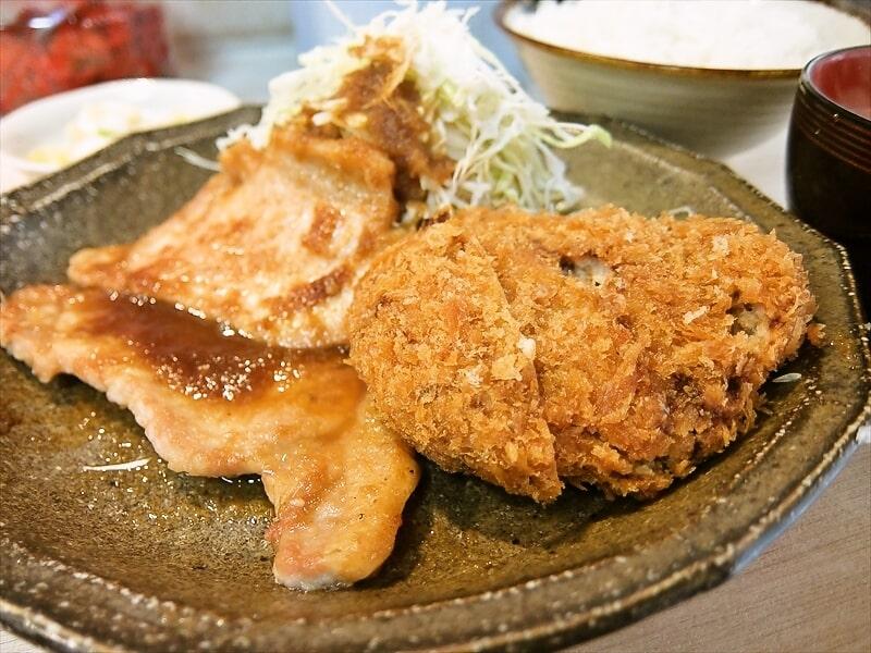 『福与志』メンチカツ&生姜焼き定食2