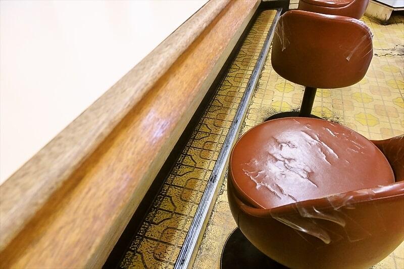 『牛丼専門サンボ』カウンター席
