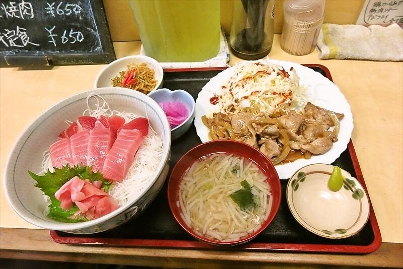 『食事処 禅』ミックス丼と焼肉1