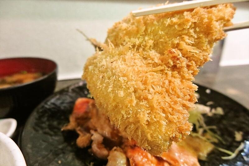 『まえだや』生姜焼き定食&アジフライ8
