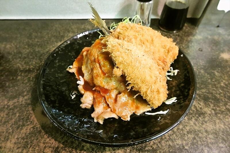 『まえだや』生姜焼き定食&アジフライ2