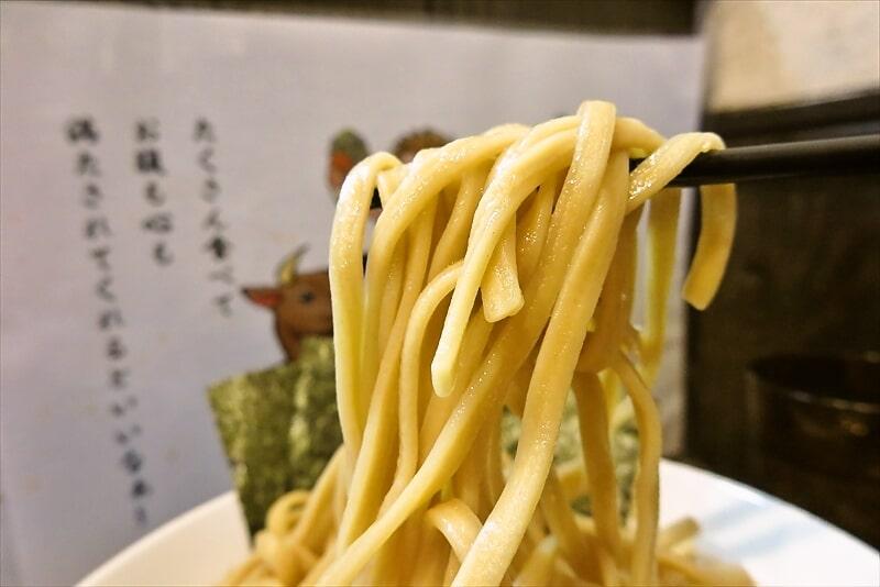 『麺屋 歩夢』8月小つけ麺ラー油抜き味玉W海苔11