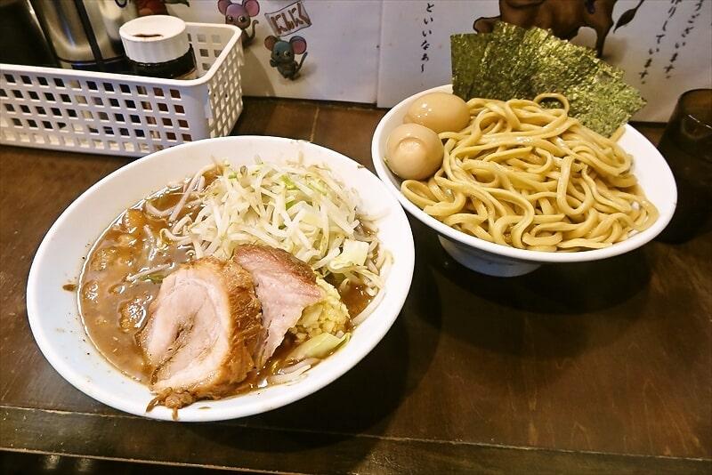 『麺屋 歩夢』8月小つけ麺ラー油抜き味玉W海苔1
