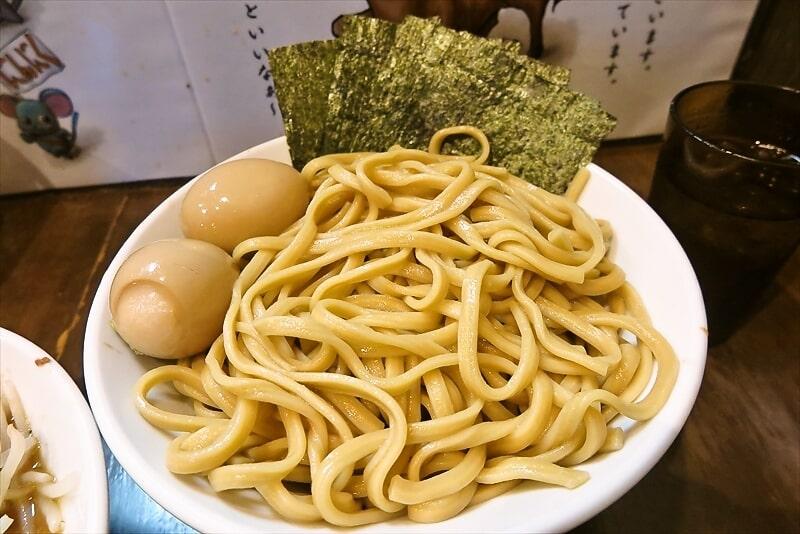 『麺屋 歩夢』8月小つけ麺ラー油抜き味玉W海苔6