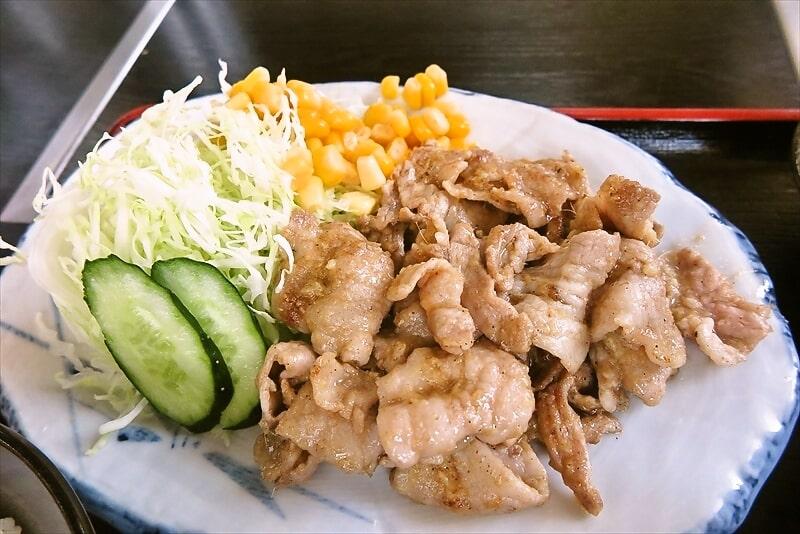 『焼肉 宝珍』生姜焼き定食4