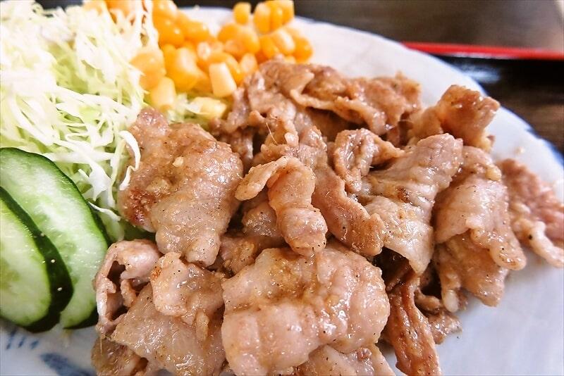 『焼肉 宝珍』生姜焼き定食6