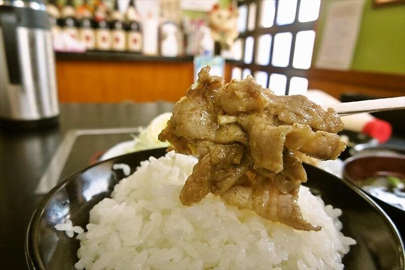 『焼肉 宝珍』生姜焼き定食8