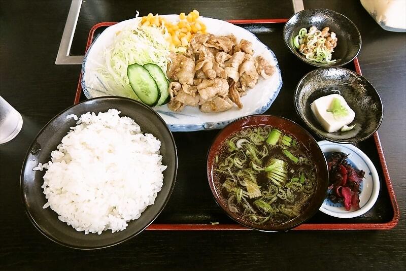 『焼肉 宝珍』生姜焼き定食1