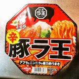 『日清 辛豚ラ王』をコンビニで買って来たので実食レビュー