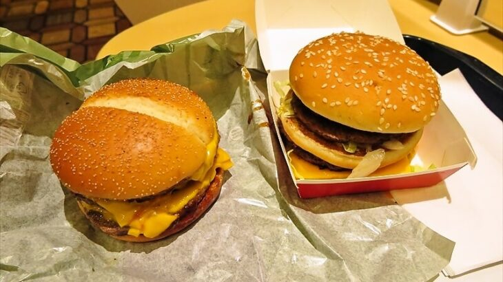 サムライマック『炙り醤油風 トリプル肉厚ビーフ』vs『倍ビッグマック』実食レビュー