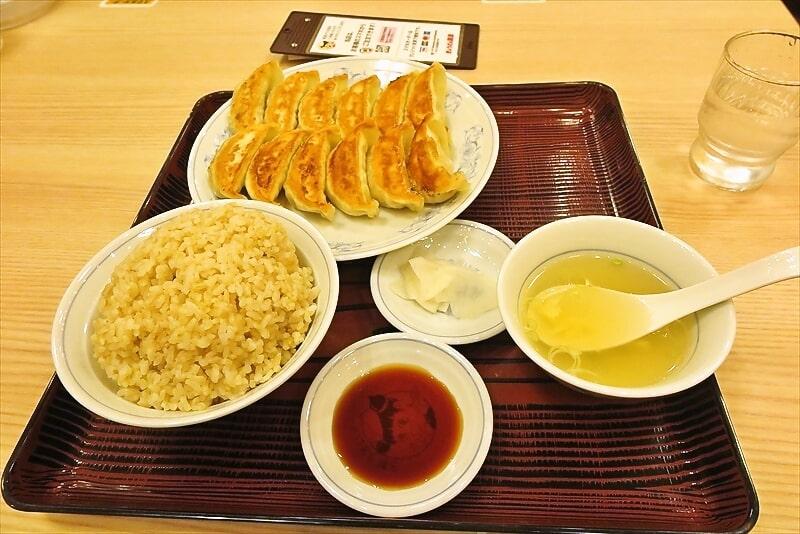 『ぎょうざの満州』ダブル餃子定食1
