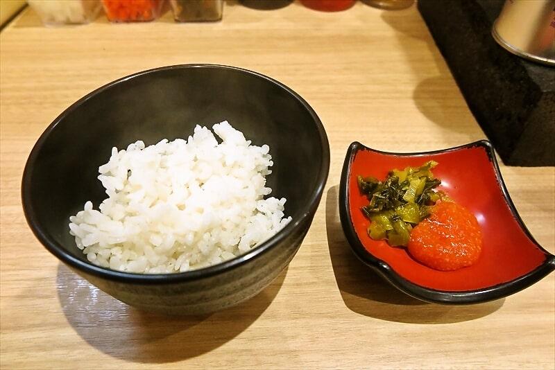『博多家系ラーメン松本家』明太子とライス