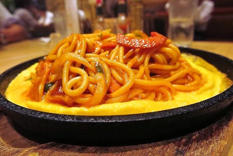 『スパゲティハウス チャオ』鉄板ナポリタン6
