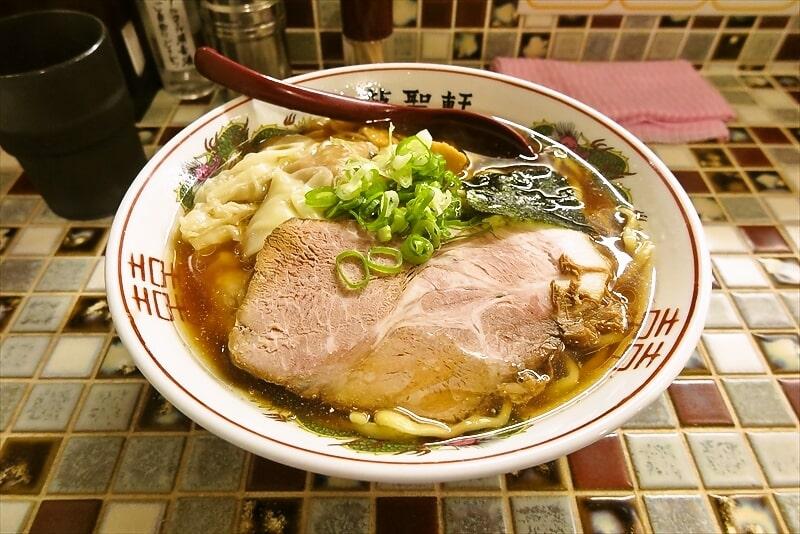 『町田 龍聖軒』醤油ワンタン麺1