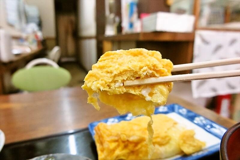『大衆食堂 江戸っ子』玉子焼き朝定食10