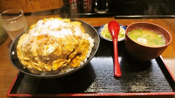 『日本橋 まる榮』カツ丼二段のボリューム感よ……@旧『そば処 まる栄』