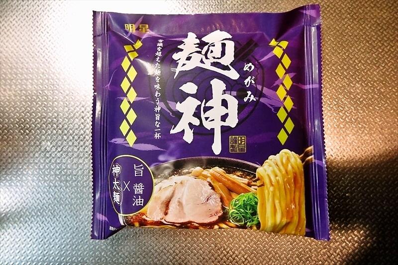 『明星 麺神 神太麺×旨 醤油』めがみ正油即席麺1